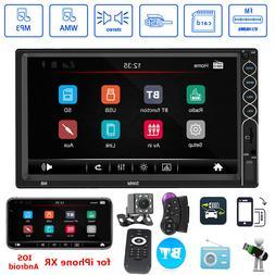 """SWM N6 2 DIN Car Stereo MP5 Player 7"""" Bluetooth FM Radio USB"""