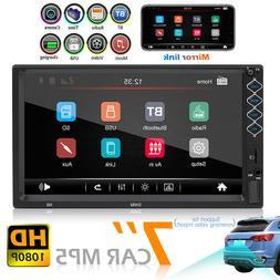 SWM N8 2 DIN Car Stereo 7 inch TFT Screen BT AUX-in FM Radio
