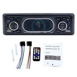SWM8809 1 Din Car FM Radio Bluetooth Remote Control Dual USB