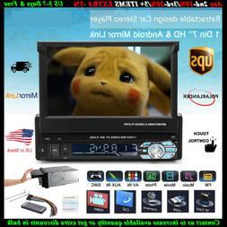 Touch Screen Head Unit 1 DIN Bluetooth 7''Car Radio Stereo U