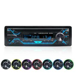 Universal Single 1 DIN Car Stereo MP3 Player BT AUX-IN USB T