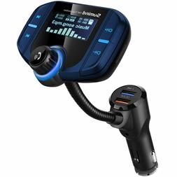 Upgraded Version) Bluetooth FM Transmitter, Wireless Radio A