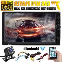 """US 2DIN Car Stereo Radio bluetooth 7"""" HD MP5 Player Touch Sc"""