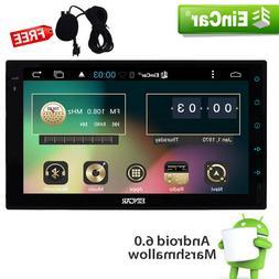 "US Eincar Android 6.0 System 2Din 7"" Car Stereo GPS FM Radio"