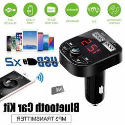 US Bluetooth Car USB Charger FM Transmitter Wireless Radio A