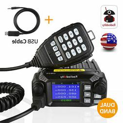 US! Radioddity DB25 Quad-standby Mini Mobile Car Radio V/UHF