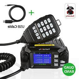 US Radioddity QB25 V/UHF 25W Quad Band Standby Mini Mobile C