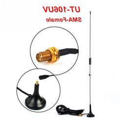 US Radio Car Magnetic Dual Band Antenna UT-106UV SMA-Female