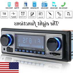 US Vintage Car Bluetooth Radio MP3 Player Stereo USB/AUX Cla