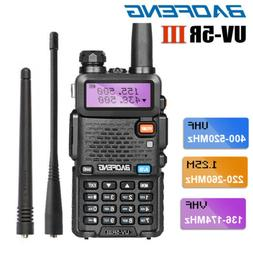 BAOFENG UV-5R III Two Way Ham Radio Tri-Band Walkie Talkie L