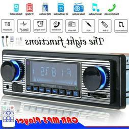Vintage Car Bluetooth Radio MP3 Player Stereo USB/AUX Classi