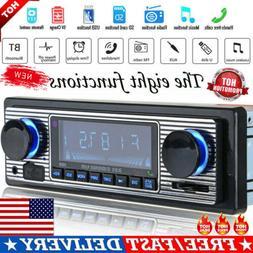 Vintage Car Bluetooth Radio MP3 Player Stereo USB AUX Classi