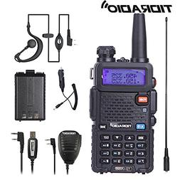 Walkie Talkie Radio UV-5R Dual Band Two Way  Radio with one