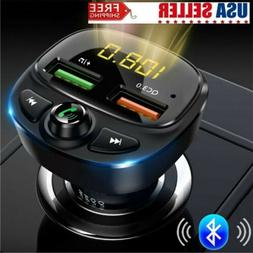 wireless bluetooth car charger 2 port usb