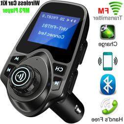 Wireless Bluetooth FM Transmitter Radio Car Kit MP3 Music Pl
