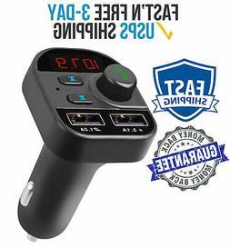 Wireless FM Transmitter Bluetooth Phone to Car Radio Adapter