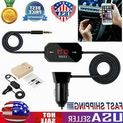 LESHP Wireless FM Transmitter Radio Car Kit for Smart Phones