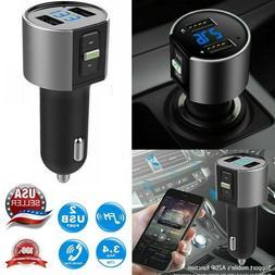 Wireless In-Car Bluetooth FM Transmitter MP3 Radio Adapter C